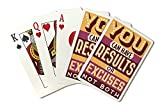 Quote - You Can Have Results or Excuses, Not Both - Vector Typography (Playing Card Deck - 52 Card Poker Size with Jokers)
