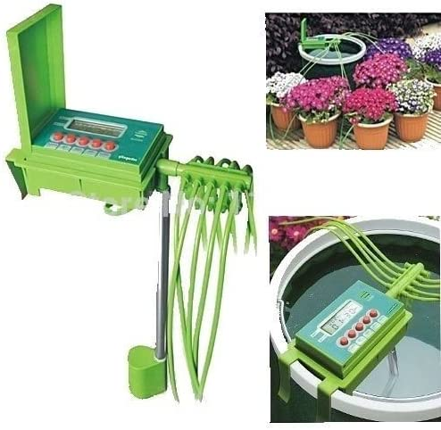 Riego automático sistema de riego Plant manguera agua césped spray aspersor de goteo automático jardín Patio jardín temporizador: Amazon.es: Jardín