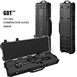 GDT Hard Gun Case Rilfe AR Ultra Protection Case with Foam 2 FREE CODE LOCKS Watertight Airtight