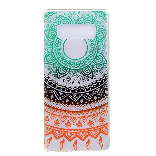 inShang funda para Samsung Galaxy Note 8 funda del teléfono móvil, anti deslizamiento, ultra delgado y ligero, Estuche, Cubierta, carcasa suave hecho en el material de la TPU, cómodo Case Cover for Ga colorful flower