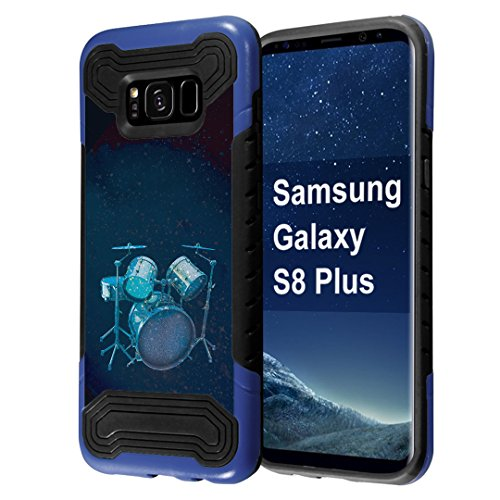 Galaxy S8 Plus Case, Capsule-Case Quantum Hybrid Dual Layer Slim Armor Case (Blue & Black) for Samsung Galaxy S8 Plus (S8+) SM-G955 SPHG955 - (Drums)