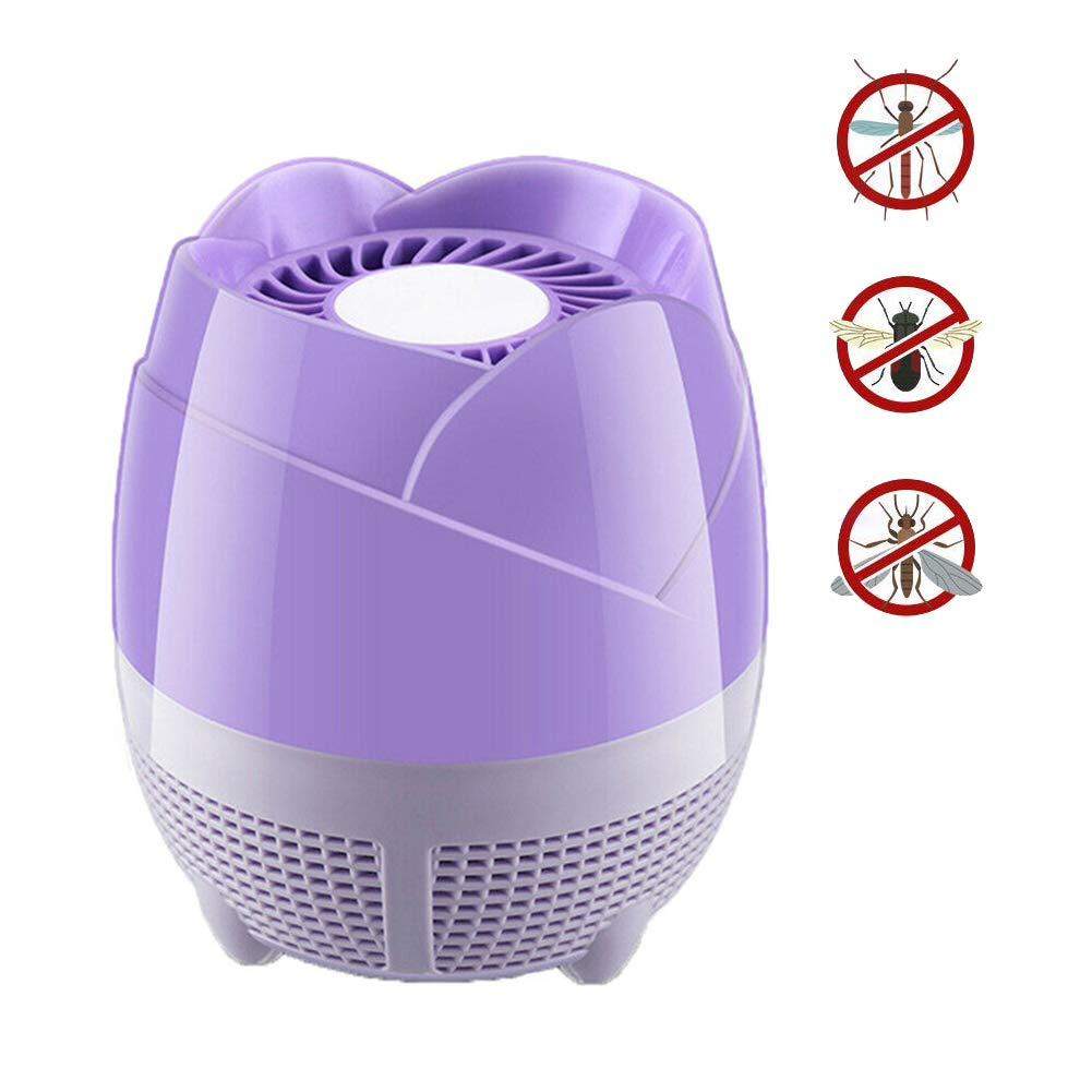 Electronic Mosquito Killer Safe and Durable Insect USB Trap Household Mosquito Killer Lamp redating Inhalation Noiseless Bedroom 360 ° Pest Control
