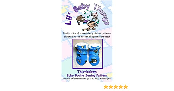 Amazon Thistledown Baby Booties Sewing Pattern
