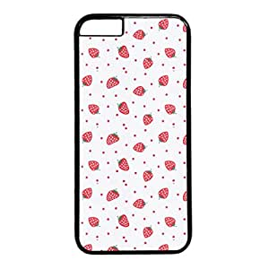 Cool Art Strawberry Hard Plastic Back Case Cover for iphone 6 Black (4.7-Inch)