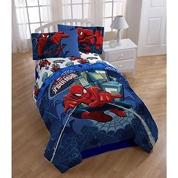 Spiderman Twin Comforter & Sheet Bedding Set
