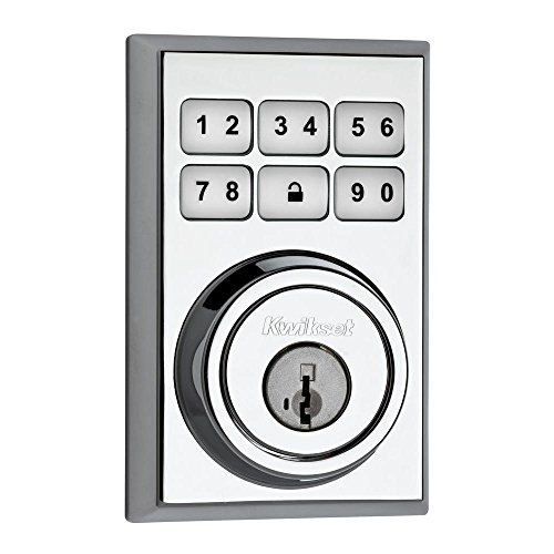 Kwikset 909 SmartCode Electronic Deadbolt featuring SmartKey in Polished Chrome