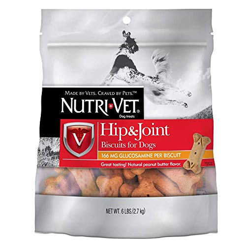 Nutri-Vet Hip & Joint Regular Strength Biscuits for Dogs, 19.5-Ounce