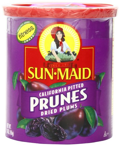 Sun Maid California Pitted Prunes, 16-Ounce Canisters (Pack of 4) by Sun Maid
