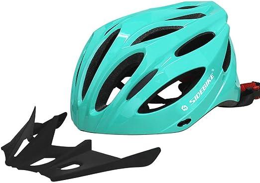 Casco para bicicleta Peso ligero Proceso de una pieza Sombrero para el sol Diseño de desvío Seguridad Protección Adecuado para Bicicleta de carretera Ciclismo de montaña BTT Hombres y mujeres,Green: Amazon.es: Hogar