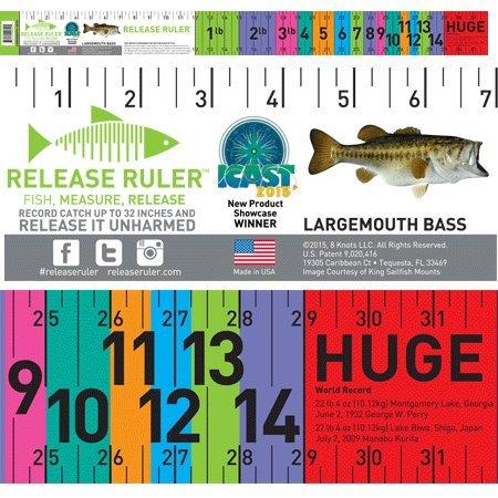 Largemouth Bass Ruler, 32