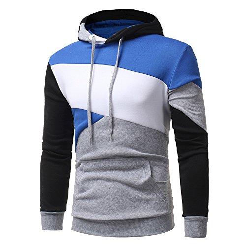 Capuchon Slim Sweatshirt D'usure Pull Chaud 3 Lonshell Tops Sweat gris Capuche Homme Hiver À Manteau R7nxw7fYrq