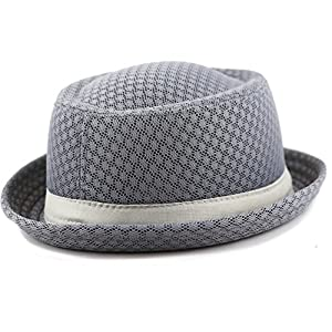 The Hat Depot Unisex Light Weight Classic Soft Cool Mesh Porkpie hat