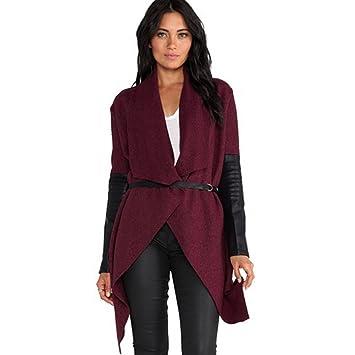 iPretty Trenca Mujer Abrigo Chaqueta Invierno Mujer Rojo Talla XL EUR42