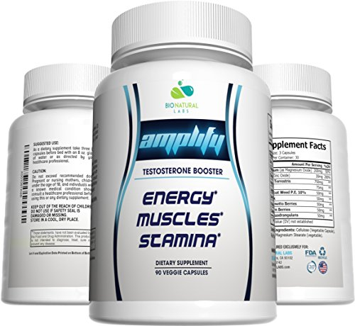 NATURAL Amplify Testosterone Booster Capsules product image
