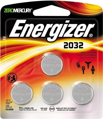 Energizer Cr2032 3 Volt Lithium Coin Battery 4 Count
