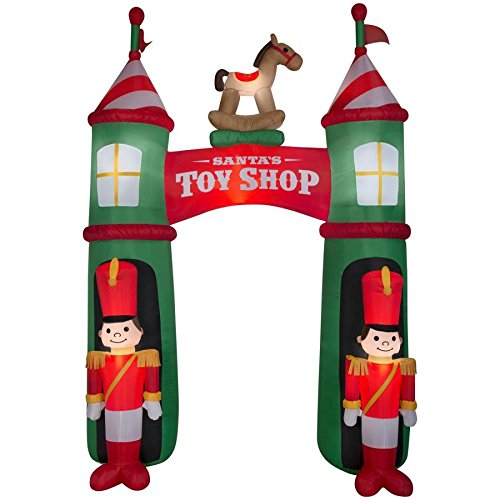 Holiday Living Airblown Archway Santa's Toy Shop 12ft Tall -