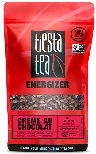 - Bold Chocolate Black Tea | CREME AU CHOCOLAT 1 Lb Bag by TIESTA TEA | High Caffeine | Loose Leaf Black Tea Energizer Blend | Non-GMO
