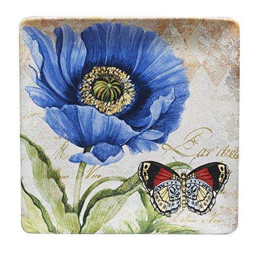 - Certified International Poppy Garden Square Platter 12.5