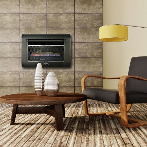 Duluth Forge Ventless Linear Wall Gas Fireplace - 26,000 BTU, T-STAT, Model DF300L