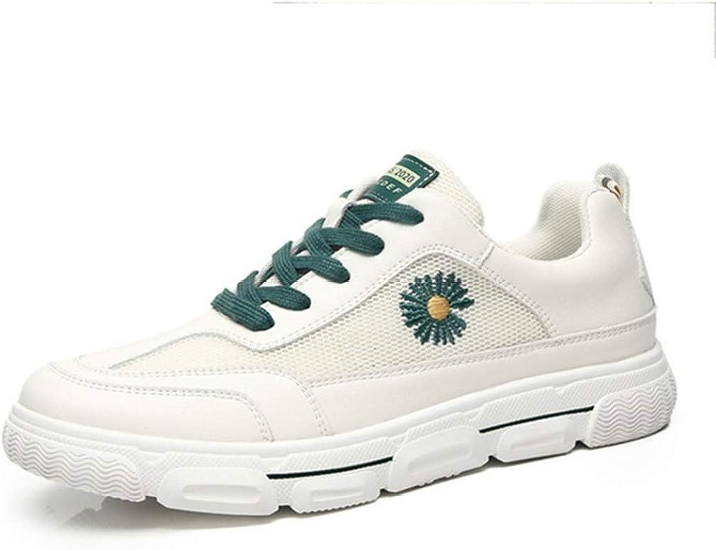 Primavera Estate Scarpe Bianche Mesh Traspirante Sport Casual Sneakers Sneakers Stringate Basse Daisy Flower Verde