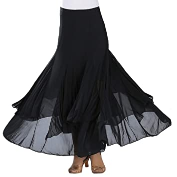 Rowentauk Falda de Baile Moderno para Mujer, Faldas de Tango ...