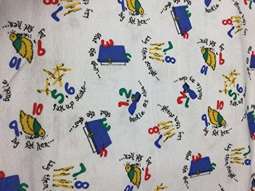 Humpty Dumpty Nursery Rhyme - Cotton Flannel Fabric