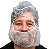 UltraSource Polypropylene Hair Net/Beard Cover, Large, Latex Free, White (Pack of 100)
