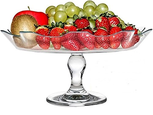Ice Cream Best Gifts Punch Circleware 55635 Set of 5 Wavy Glass Mixing Bowls Set Cheese Dessert 1-10D Gala 5pc Salad Food 4-5.25D Candy Home Serving Dish Glassware for Fruits