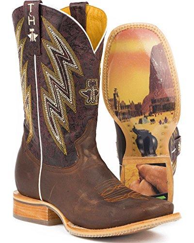 Scarpe Da Tiro In Metallo Da Uomo Gunslinger Western Boot Brown