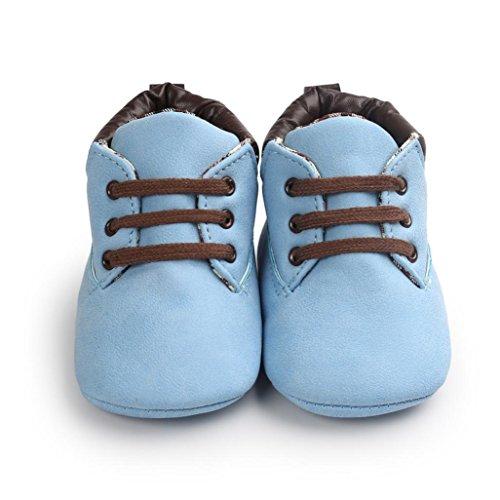 Zapatos Bebé,Xinantime Niña Niño Zapatos de Cuero Artifical Suave Invierno (17, Khaki) Azul