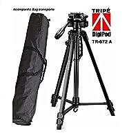 Tripé Digipod TR672AN com Cabeça 3 vias para Foto e Vídeo - Suporta de 2,7 até 5Kg