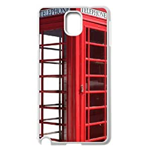 {Telephone Booth Series} Samsung Galaxy Note 3 Cases Red London Phone Booth, Case Zachcolo - White
