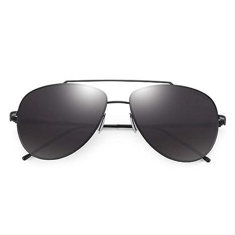 ZCFDDP Gafas de Sol Cool Pilot Gafas de Sol Recubrimiento de Montura de aleación clásica Gafas de Alta definición con Estuche Original Eye Wea Black Frame Black Le: Amazon.es: Deportes y aire