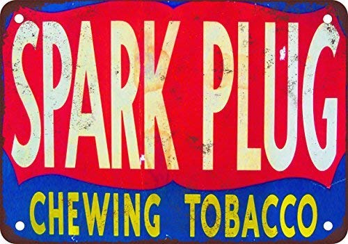 FemiaD Spark Plug Chewing Tobacco Vintage Look Reproduction Metal Tin Sign 12