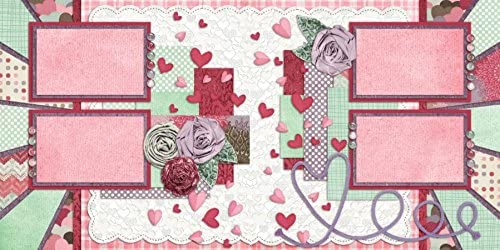 5 Double Page Layouts Love Scrapbook Set