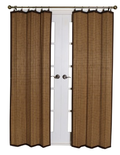 Bamboo BRP074084-11 Bamboo Ring Top Curtain, 40 x 84- Inches, Colonial Brown (Bamboo Panels Window)