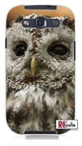 Cool Painting Beautiful Wise Owl Bird Unique Quality Soft Rubber Case for Samsung Galaxy S4 I9500 - White Case