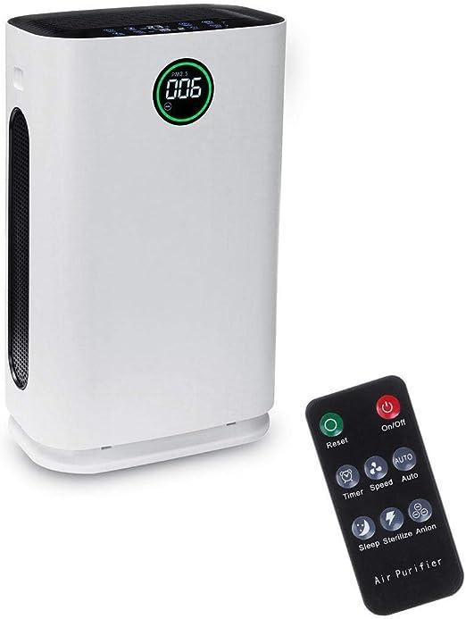Purificador de aire con filtro HEPA verdadero, filtro de carbón y ...