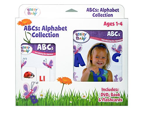 Brainy Baby ABC Flash Cards, DVD and Board Book Collection: Introducing the Alphabet Deluxe Edition Brainy Baby Picture