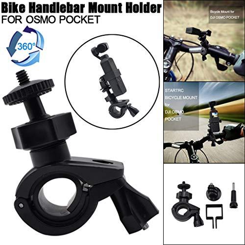 Black Two Bar Hybrid (Ordee❤️❤️Accessories Bicycle Holder Stand 360° Rotary Bike Handlebar Mount Holder for DJI Osmo Pocket)