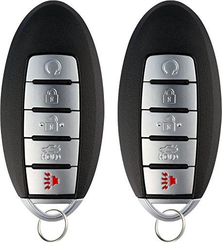KeylessOption Keyless Entry Remote Starter Smart Car Key Fob for Nissan Armada Infiniti QX80, QX56, CWTWB1G744 (Pack of 2)