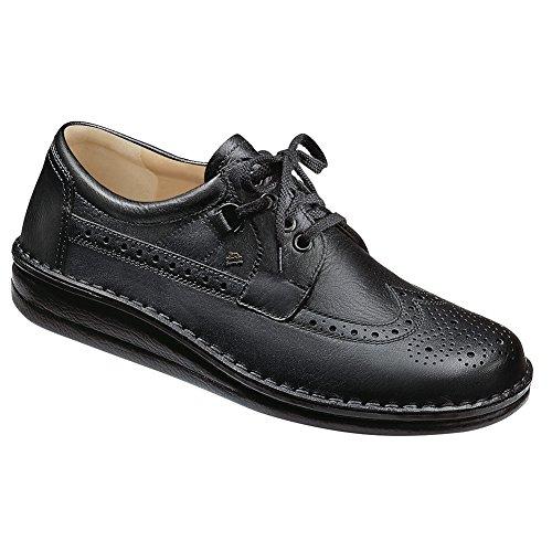 Finn Comfort Men's York Fashion Oxfords, Black, Leather, Suede, Cork, 49 EU / 16-16.5 M US (York Shops Furniture)