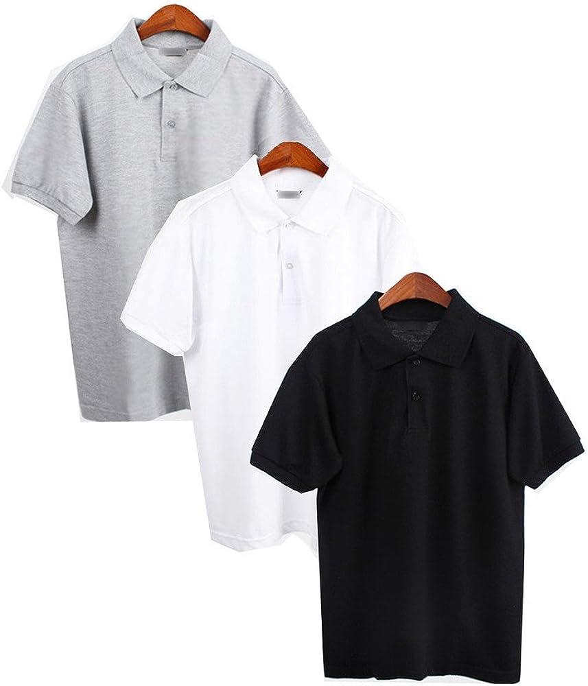 YAN MenS Polo Shirts Lot Short Sleeve Shirt Hombre Blank Polo ...