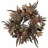 Nearly Natural 4907 Pumpkin Wreath, 28-Inch, Autumn