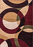 Well Woven Dulcet Bingo Red Modern Geometric Area Rug 2'7'' X 3'11''