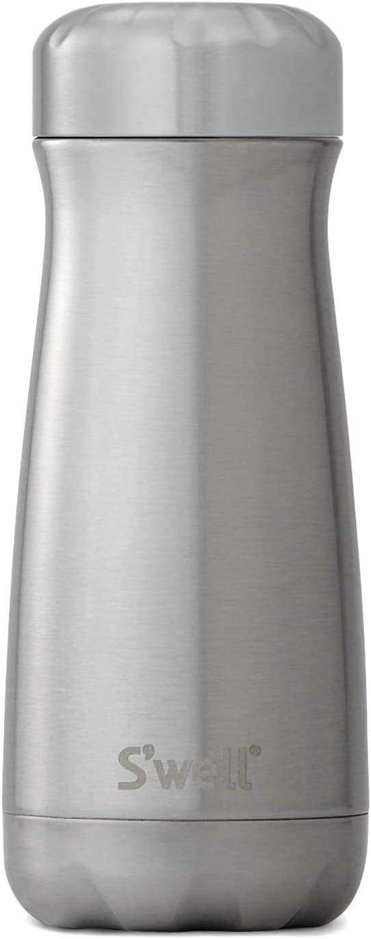 S'well 10316-B17-00300 Stainless Steel Travel Mug, 16oz, Silver Lining