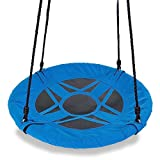 Flying Saucer Tree Swing - Blue, 400 lb Weight Capacity, Fully Assembled, Easy to Install …