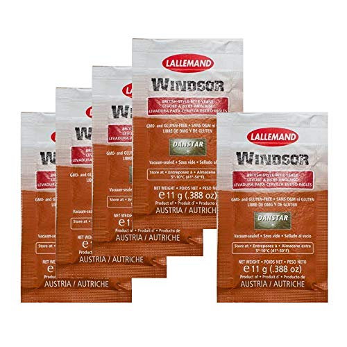 5 x Danstar Lallemand Windsor British Style Beer Yeast - 5 - Ale English