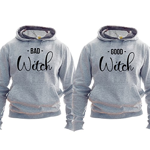Best Friends Pullover Besties Hoodie Kapuzenpullover Kapuzenshirt Bff Outfit Matching Bff Matching Besties Good Witch Band Witch