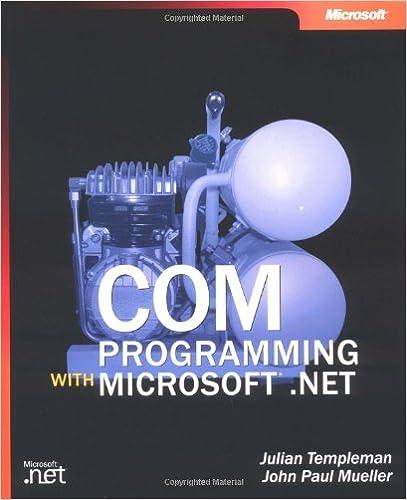 COM Programming with Microsoft/® .NET